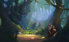 Forest, Ruslan Kim on ArtStation at https://www.artstation.com/artwork/LgmVw