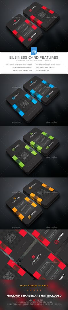 #Business #Card - Business Cards Print Templates Download here: https://graphicriver.net/item/business-card/19515284?ref=alena994