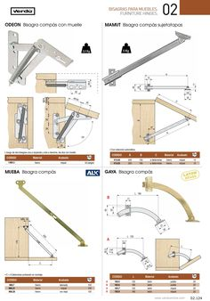 Pág. 124 Furniture Hinges, Folding Furniture, Furniture Making, Diy Furniture, Diy Sewing Table, Sewing Machine Tables, Diy Table, Wood Table, Best Table Saw