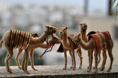 Needle felted Camel -wool soft sculpture