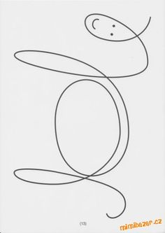 S dcerou jsme chodili do kroužku pro předškoláky a mimo jiné jsme procvičovali i tuhle tématiku na u... Sudoku, Color Unit, Animal Stencil, Machine Quilting Designs, Step By Step Drawing, Shape Design, Wire Art, Coloring For Kids, Line Drawing