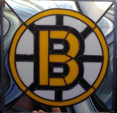Boston Bruins Stained Glass Logo by AlligatorSmiles on Etsy