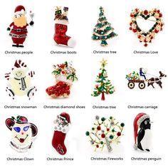 Año nuevo de La Moda zapatos botas de Navidad Santa Claus carro Rhinestone Broche Joyería de/color de Navidad broche de piedra