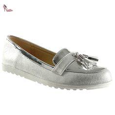 7f58829237fdbd Angkorly Chaussure Mode Mocassin Slip-on Femme Frange Pom-Pom Verni Talon  Plat 1.5 CM: Amazon.fr: Chaussures et Sacs
