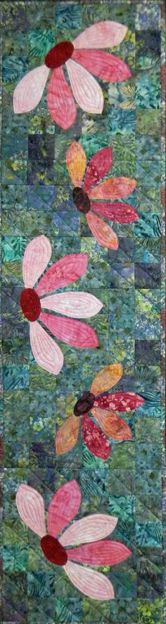 Blooming Table Runner Quilt Pattern....would be cute done in felted wools!!