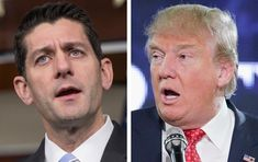 House Speaker Paul Ryan (left), a Wisconsin Republican, criticized GOP presumptive presidential nominee Donald Trump for Trump's racial remarks about a federal judge.