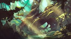 ArtStation - Sylvan Forest, Jedd Chevrier