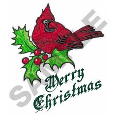 Free Christmas Machine Embroidery Pattern | Great Notions Embroidery Design: MERRY CHRISTMAS 4.55 inches H x 3.87 ...