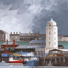 Bob Turnbull Print wide x high mounted (unframed) North Shields, Northern England, Story Ideas, Low Lights, Lighthouses, Newcastle, Homeland, Old Town, Big Ben