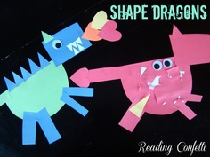 """Tomie dePaola book  """"The Knight and the Dragon"""" and Shape Dragons from Reading Confetti"""