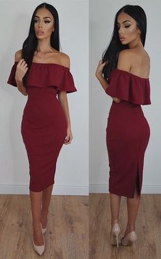 2018 Burgundy Bodycon Sexy Off-Shoulder Tea-Length Prom Dress evening dresses The long prom dresses are fully lined, 4 bones in the bodice, chest pad in the bu Bodycon Prom Dresses, Prom Dresses Uk, Evening Dresses Uk, Dresses Online, Club Dresses, Party Dresses, Wedding Dresses, Occasion Dresses Uk, Handmade Dresses