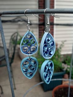 Paper Quilled Earrings by Sweethearts and Crafts