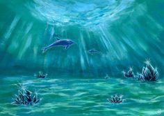 風景画「水晶とイルカの海3」[億錦 樹樹] | ART-Meter