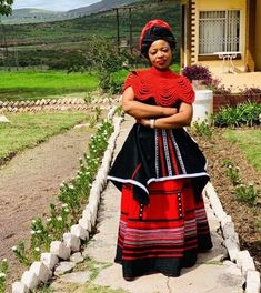 South African Traditional Dresses, Traditional Fashion, Traditional Outfits, African Dresses For Women, African Print Dresses, African Fashion Dresses, Xhosa Attire, African Attire, African Print Wedding Dress