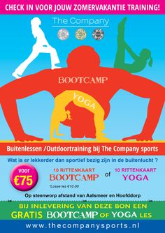 The Company Bootcamp and Yoga Special offer A5 Flyer