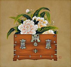 teaspoon heaven ♡ com Korean Painting, Chinese Painting, Korean Art, Asian Art, Japanese Patterns, Japanese Art, Drawing Block, Chinese Contemporary Art, Chinese Flowers