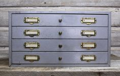 Vintage Industrial Multidrawer Cabinet by AuroraMills on Etsy
