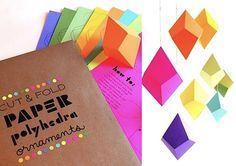 DIY polygons - with paper - hmmm? guess I need to give this a try.