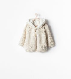ZARA - KIDS - FLEECE-LINED HOODED COAT WITH TOGGLES