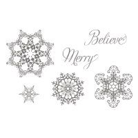 Snowflake Soiree Stamp Set - Buy this stamp set in Wood #127922 or Clear #127925