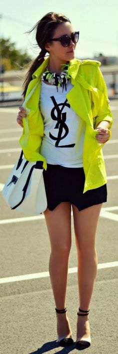 Neon & Black by J'adore Fashion