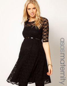 ASOS Maternity Lace Skater Dress. Cute!