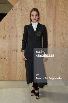 Gaia Repossi attends the Celine show as part of...