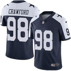 Nike Cowboys Dez Bryant Navy Blue Thanksgiving Youth Stitched NFL Vapor  Untouchable Limited Throwback Jersey And Taco Charlton 97 jersey e07ff8a13