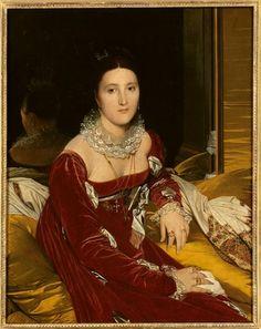 Ingres, Portrait de Mme de Senonnes, 1814, mba Nantes