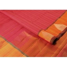 A #brightpink in the body with #lovely rust and #temple border motifs embedded makes it truly #unique!