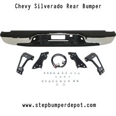 FOR 99-07 SILVERADO//SIERRA STEPSIDE REAR BUMPER FACE BAR CHR TOP CENTER PAD 4P
