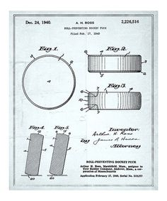 Take a look at this 'Hockey Puck' Patent Art Print by Oliver Gal on #zulily today!