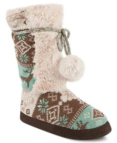 Muk Luks Shoes, Jewel Faux-Fur Booties
