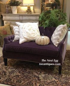 Custom sofa in purpl