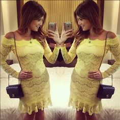 price:26.99usd Style:Sexy  Color:Yellow  Material:Lace  Size:S/M/L/XL