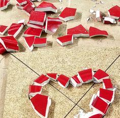 #mosaic class! valentine's day trivets! #hearts