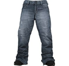 56fe7eb6 686 Deconstructed Denim Jeans Snowboard Pants 686 Deconstructed Jeans Pant  will for sure keep you dry.