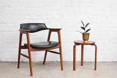 Erik Kirkegaard Teak Bullhorn Chair Danish by OtherTimesVintage