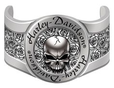 Harley-Davidson® Womens Skull & Roses Hair Ringz™ Ponytail Jewelry