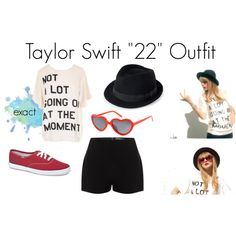 Taylor Swift 22 Outfit by madisonmalik1d on Polyvore. I love the shirt on this one!