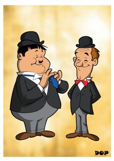 Stan Laurel i Oliver Hardy Classic Cartoon Characters, Classic Cartoons, Cartoon Art, Disney Characters, Laurel Et Hardy, Stan Laurel Oliver Hardy, Comics Und Cartoons, Funny Cartoons, Cartoon Memes
