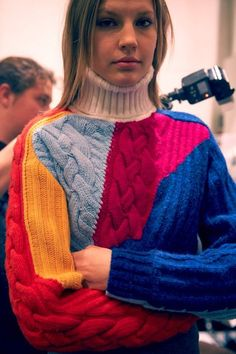 The Darker Horse: Colorful Cable Patchwork