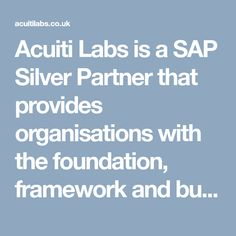 Acuiti Labs is a SAP Silver Partner that provides organisations with the foundation, framework and business tools to create a holistic customer view across channels. Also, Acuiti Labs can help you generate revenue with Hybris Cloud solutions >> https://acuitilabs.co.uk/hybris-billing/