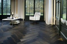 Whiskey Barrell Flooring is really hot right now!!! I love it!!!