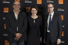 David Kessler, Odile Roujol et Eric Garandeau, soiree Cineday Orange