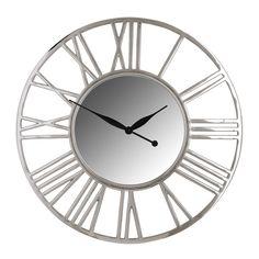 Ceas de perete cu oglinda Richmond Danell D 81cm Richmond Interiors, Aluminium, Retro, Wall, Vintage, Home Decor, Products, Clock, Silver