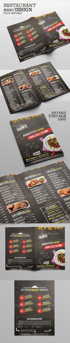 Food Menu - Chalk Board Restaurant Template #design Download: http://graphicriver.net/item/food-menu-chalk-board-restaurant/12589635?ref=ksioks