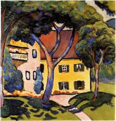 House in a Landscape August Macke