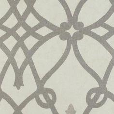 Grey Frette Print Fabric from DuraleeFinds