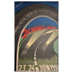 Le Mans 24 hours 1951 Original Poster